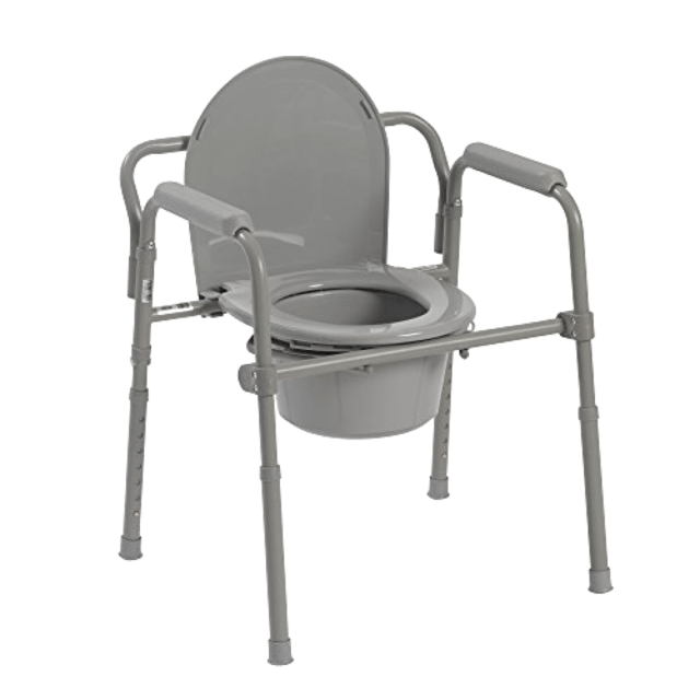 folding chair for bathroom oxo taupe walnut high heavy duty adult bedside commode seat safety toilet fold new