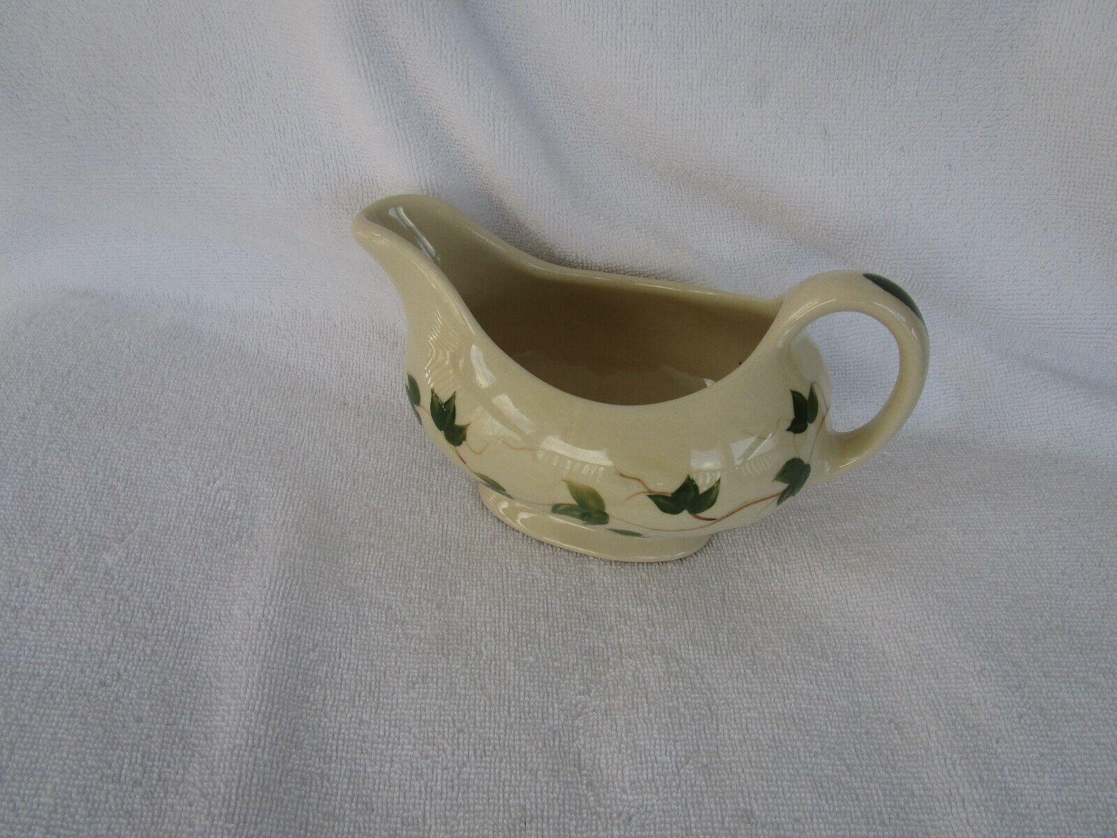 QUALITY~[Alpine Pottery Pottery Roseville,]~ 2000 Ohio ~Gravy Boat ~Green Leaf
