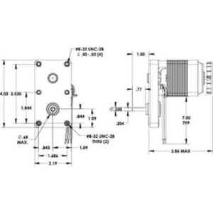 Manual combination Dayton 52Je39 Ac Gearmotor, 26.0 In-Lb