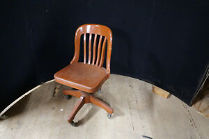 sikes chair company swing price in india antique oak office industrial ebay image is loading