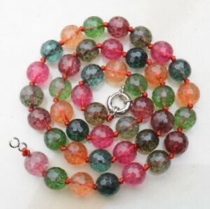 NEW Faceted fake Tourmaline Multi-Color Gemstone Necklace ...