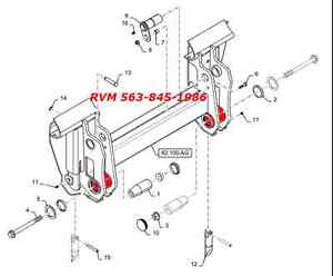 NEW HOLLAND 86601599 Mounting Plate Weld On BUSHING LX985