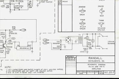 Randall Instruments RG/RB-90 Guitar Amplifier Amp