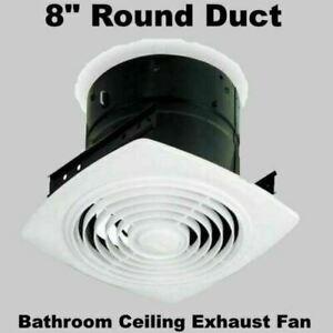 details about bathroom ceiling exhaust fan bath room kitchen ventilation 8 round duct white