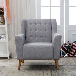 Chair Living Room Sunken Designs Linen Fabric Modern Tub Armchair Sofa Dining Lounge Office Uk