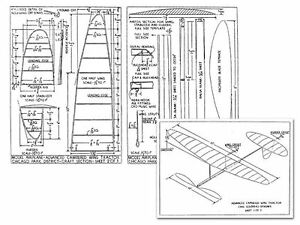 Carl Goldberg Wing Tractor Full Size Balsa Model Airplane