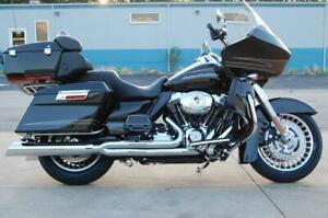 details about d d chrome boss fat cat 2 1 exhaust slant cut harley touring 09 16 perforated ba