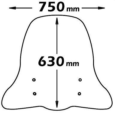 Parabrezza Isotta con Kit Attacchi CLS330-A/708 Piaggio