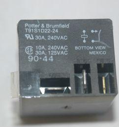 potter brumfield t91s1d22 24 24vdc power relay spst 30a 240vac ebay [ 1504 x 1000 Pixel ]