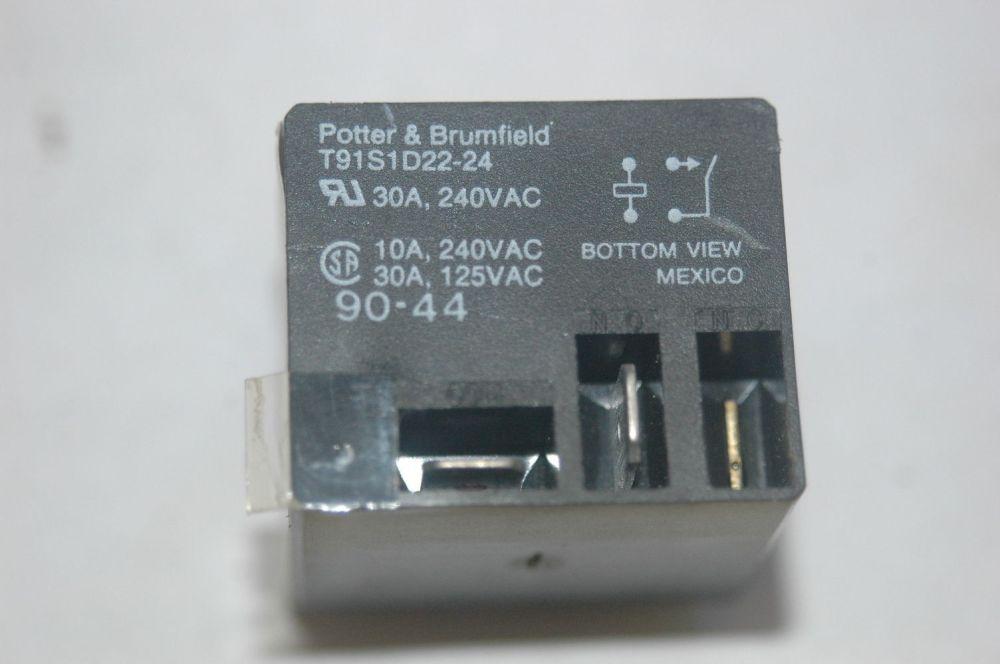 medium resolution of potter brumfield t91s1d22 24 24vdc power relay spst 30a 240vac ebay