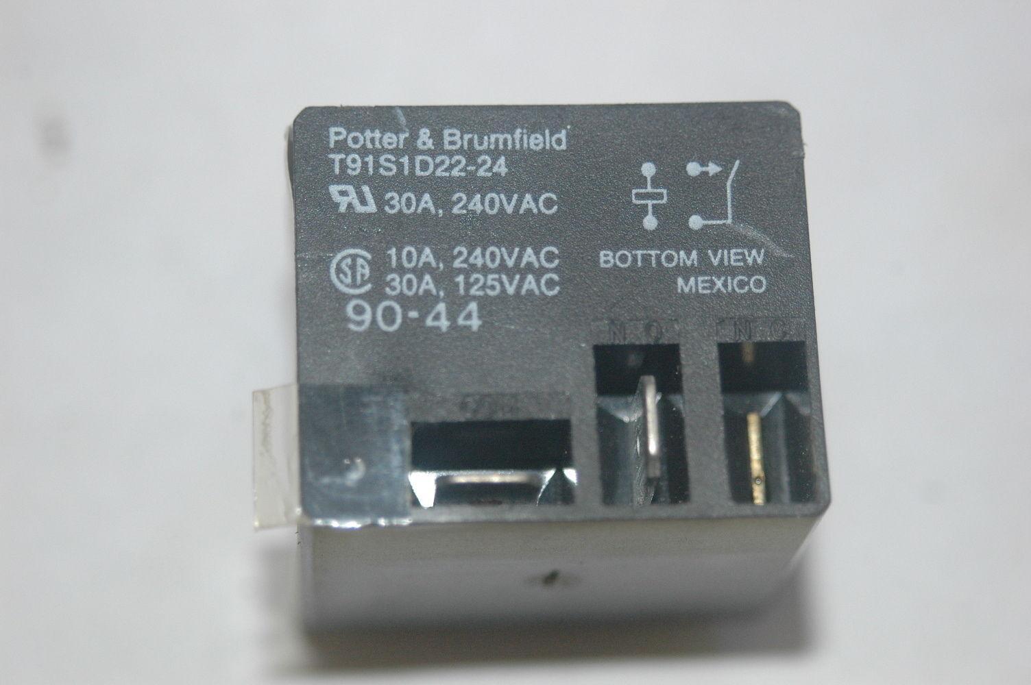 hight resolution of potter brumfield t91s1d22 24 24vdc power relay spst 30a 240vac ebay