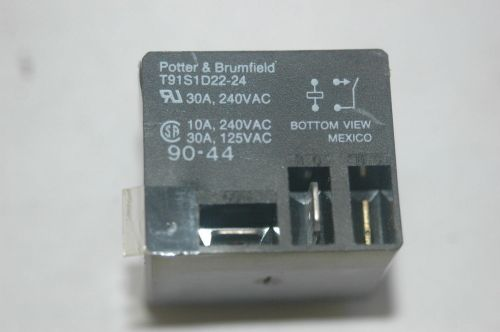 small resolution of potter brumfield t91s1d22 24 24vdc power relay spst 30a 240vac ebay