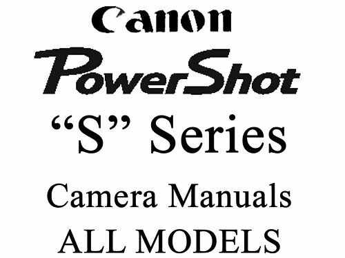 Canon Powershot Camera User Guide Instruction Manual (ALL