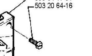 4 Recoil Starter Cover Screws 503203416 Husqvarna 61 262