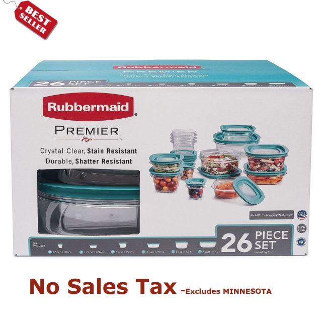 Rubbermaid Premier 26-Piece Food Storage Set Plastic Containers 2