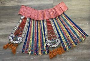 Rare Antique Chinese Silk Wedding Skirt Qing Textile