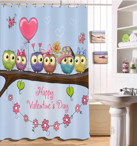 shower curtains romantic valentine s day shower curtain polyester fabric bathroom accessories home garden