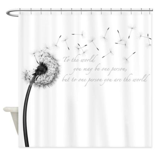 cafepress dandelion inspiration shower curtain 2023814324 bathroom supplies accessories shower curtains