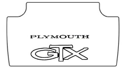 1967 Plymouth Belvedere GTX Trunk Rubber Floor Mat Cover w
