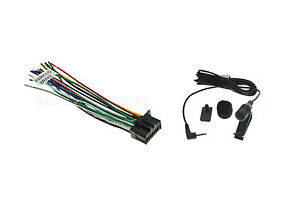 WIRE HARNESS & MICROPHONE FOR PIONEER AVH-210EX AVH210EX