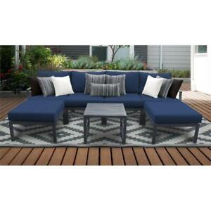 details about tk classics lexington 7 piece aluminum patio furniture set 07a in navy
