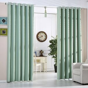 Mint Green Blackout Curtains Heavy Fabric Ready Made Eyelet