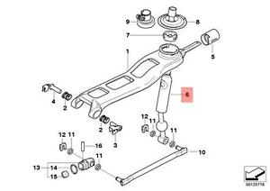 Genuine BMW E60 E61 Sedan Shift Lever Manual Transmission