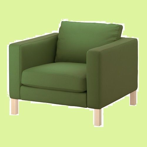 ikea chair covers ebay rei lawn chairs karlstad slipcover sivik green 202 272 91 slip cover for armchair