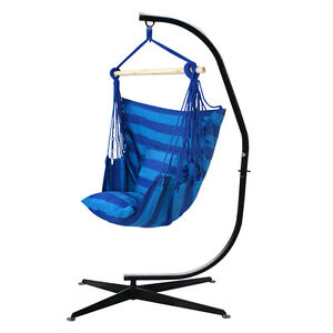 hammock chair c stand art deco dining chairs hanging and set with indoor outdoor rope image is loading