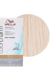Image is loading wella color charm permament liquid hair toner also lightest beige rh ebay