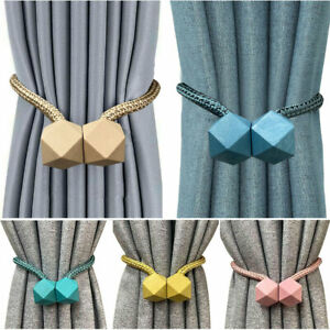 details about strong magnetic curtain tiebacks clips holdbacks buckles curtain tie backs rope