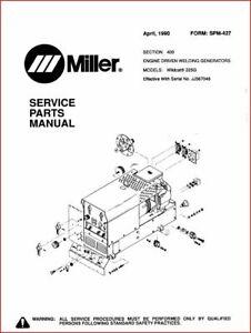 MILLER WILDCAT 225G SERVICE PARTS MANUAL EFF W / JJ367046