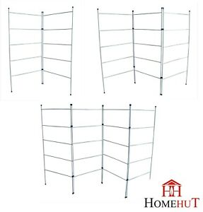 details about laundry airer 2 3 4 fold 5 tier clothes horse drier indoor drying rack folding