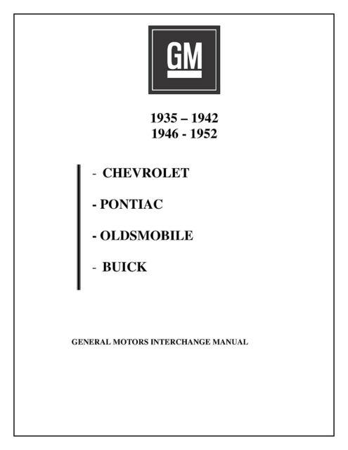 CHEVROLET PARTS INTERCHANGE MANUAL 35 36 37 38 39 40 41 42