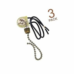 Pull Chain Switch Zing Ear ZE-109 Ceiling Fan Switch