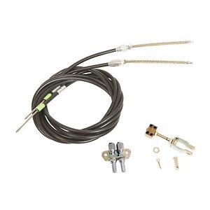 Lokar Universal Emergency Brake Cables Black Housing Kit