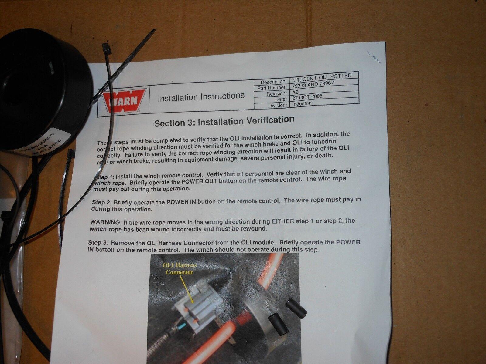 hight resolution of warn winch gen ii oli potted kit srs18 24v 18k lb mrap hmmwv lmtv m1078 m998 ebay