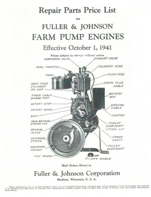 Fuller And Johnson Engine