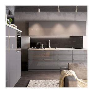 grey high gloss kitchen doors IKEA RINGHULT high gloss gray, Door - Drawer Cabinet Kitchen Fronts | eBay