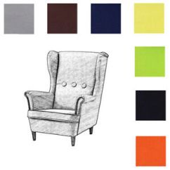 Ikea Chair Covers Ebay Grey Dining Slipcovers Custom Made Cover Fits Strandmon Children S Armchair Replace Image Is Loading 039