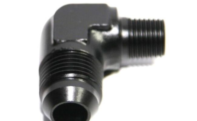 Black Aluminum 90 Degree Elbow 3AN AN3 Male To 1//8 1//8 NPT Male Fitting Adaptor Connector