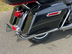 details about chrome 1 7 8 fishtail drag pipe slip on 33 inch mufflers exhaust harley touring