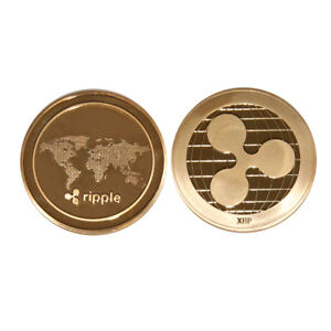 Gold Ripple Commemorative Round Collectors Coin XRP Coin ...