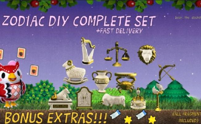 Complete Celeste Zodiac Diy Set Animal Crossing New