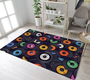 vinyl rugs record records living floor carpet rug area retro background decor mat colored