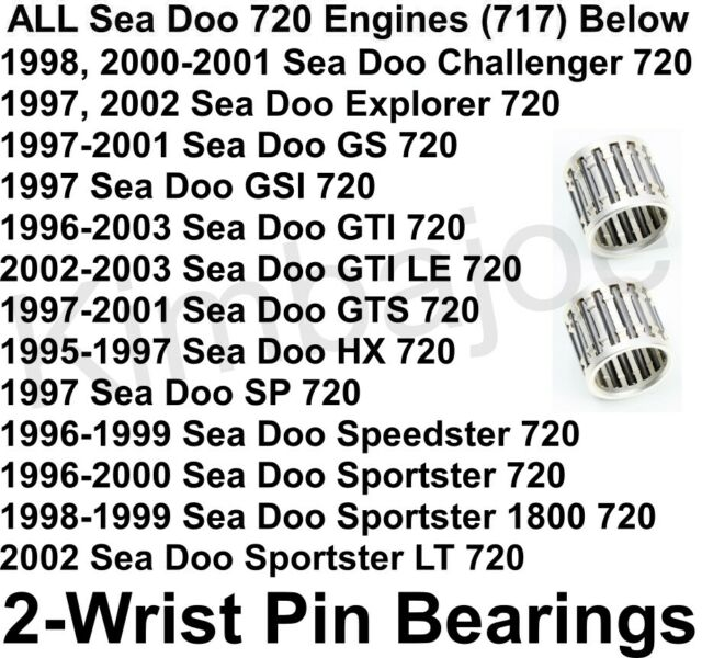 ALL Sea Doo 720 Engines 717 PWC Listed TWO (2) Wrist Pin