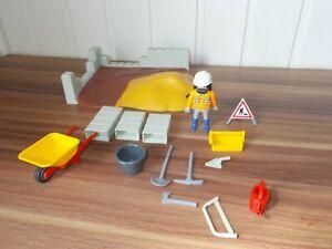 Playmobil - 4138 - Compact set construction . maçons chantier. travaux publics | eBay