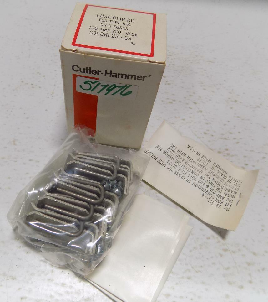 medium resolution of cutler hammer c350ke23 63 fuse clip assembly h k r fuses 100a size 2 3 ebay