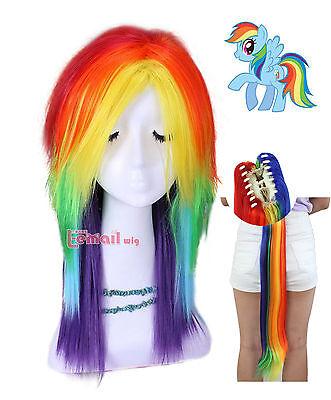 Rainbow Dash Hair : rainbow, Little, Rainbow, Cosplay, Multi, Color, Halloween