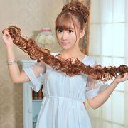 women clip in ponytail wavy horsetail
